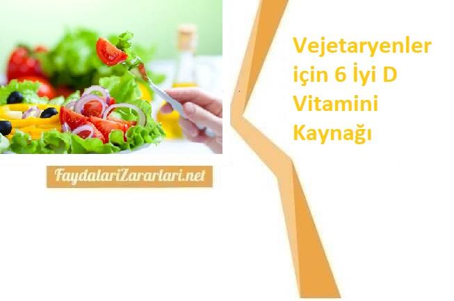 Vejeteryanlar için D Vitamini İçerien Besinler